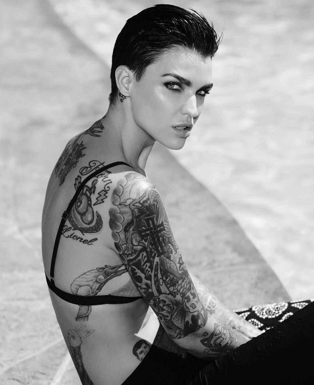 80fb25d3a Tattoo model Ruby Rose tattoo | Australia, United States | iNKPPL Tattoo  Magazine