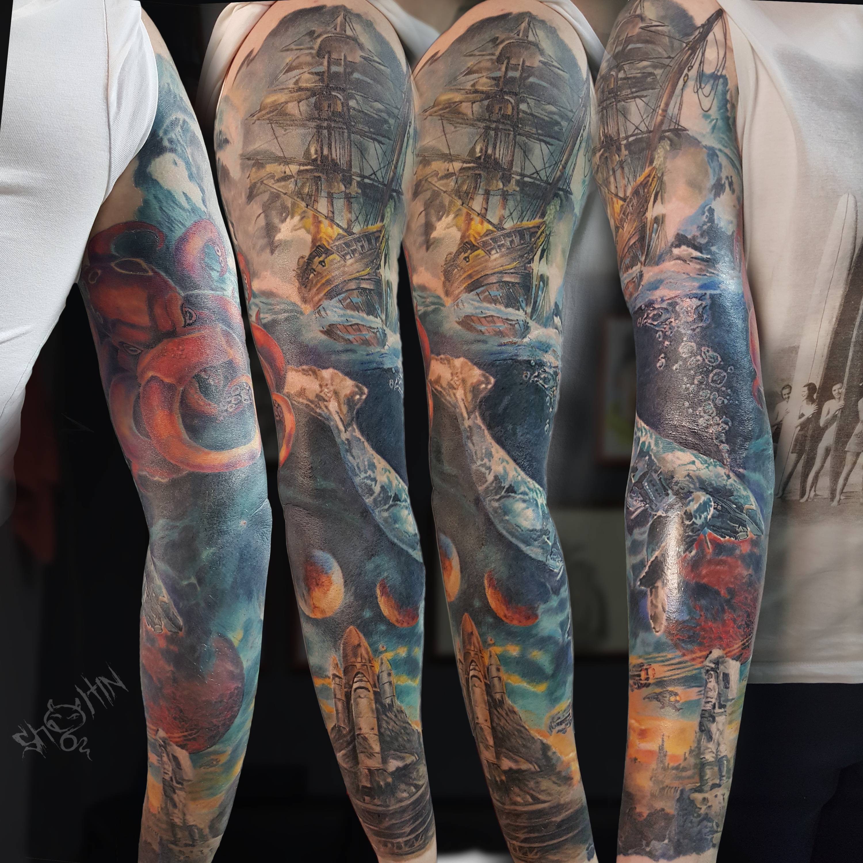 Tattoo artist Daniil Sholtin | St Petersburg, Russia