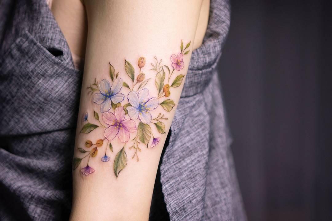 dae22bc3d Tattoo artist Silo color, authors style, watercolor tattoo   Корея   iNKPPL Tattoo  Magazine