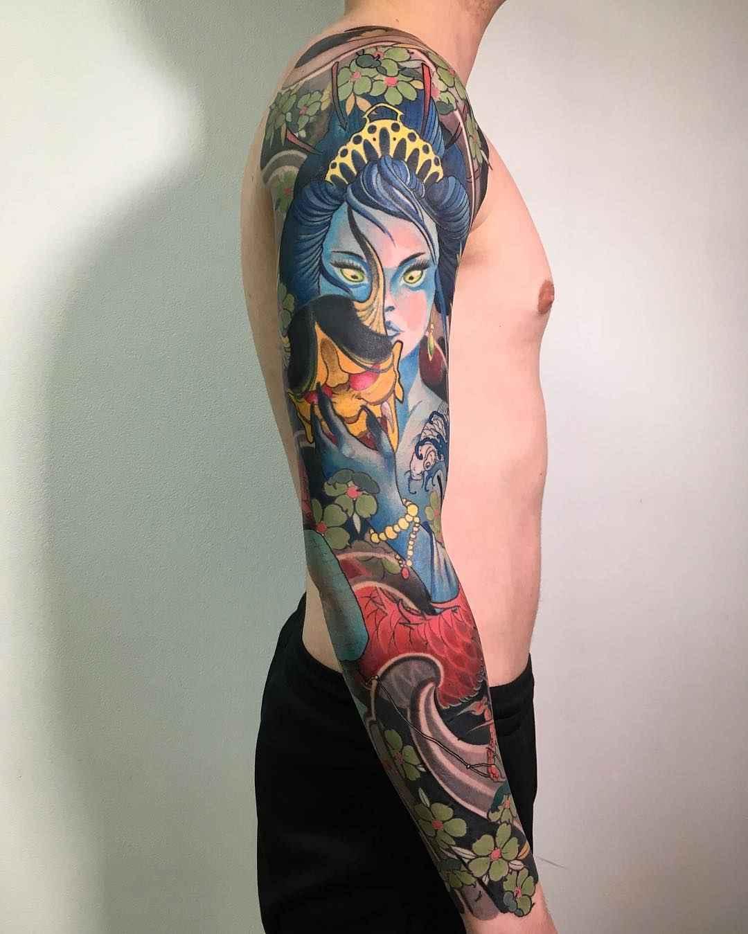 Japanese tattoos by Slava Fil Filitov