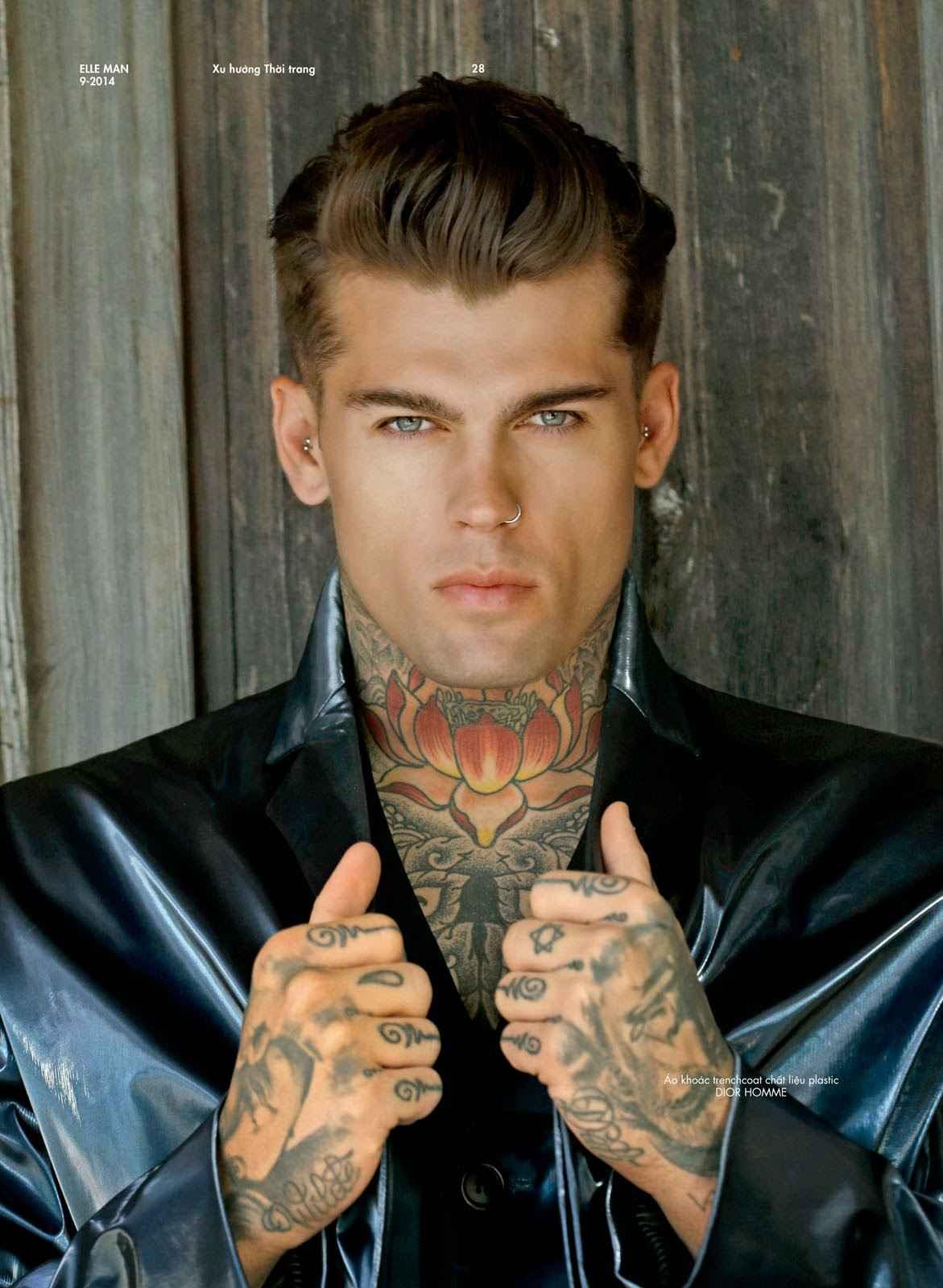 Tattoo model Stephen James   London, United Kingdom