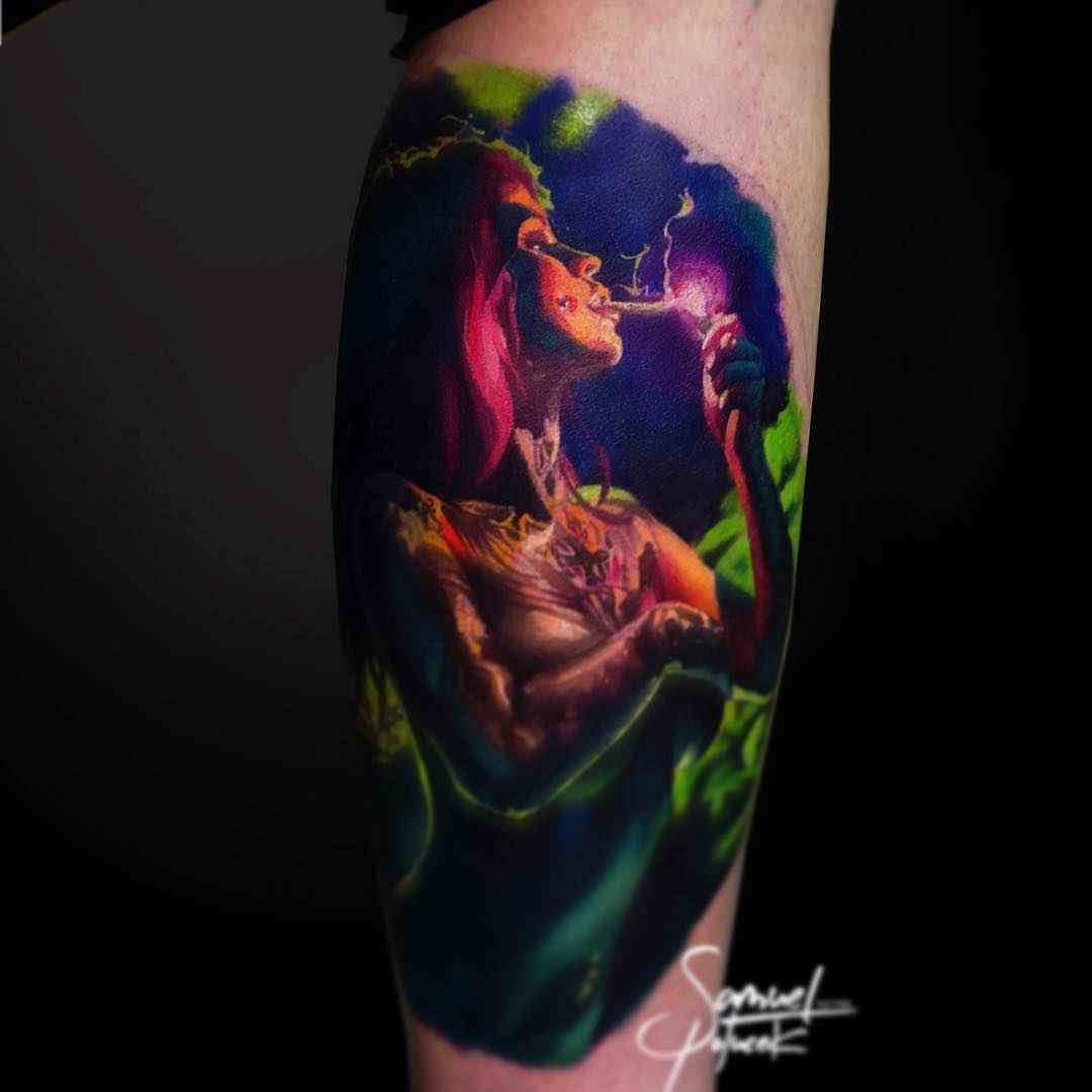 Tattoo artist Samuel Potucek color surrealistic realism tattoo