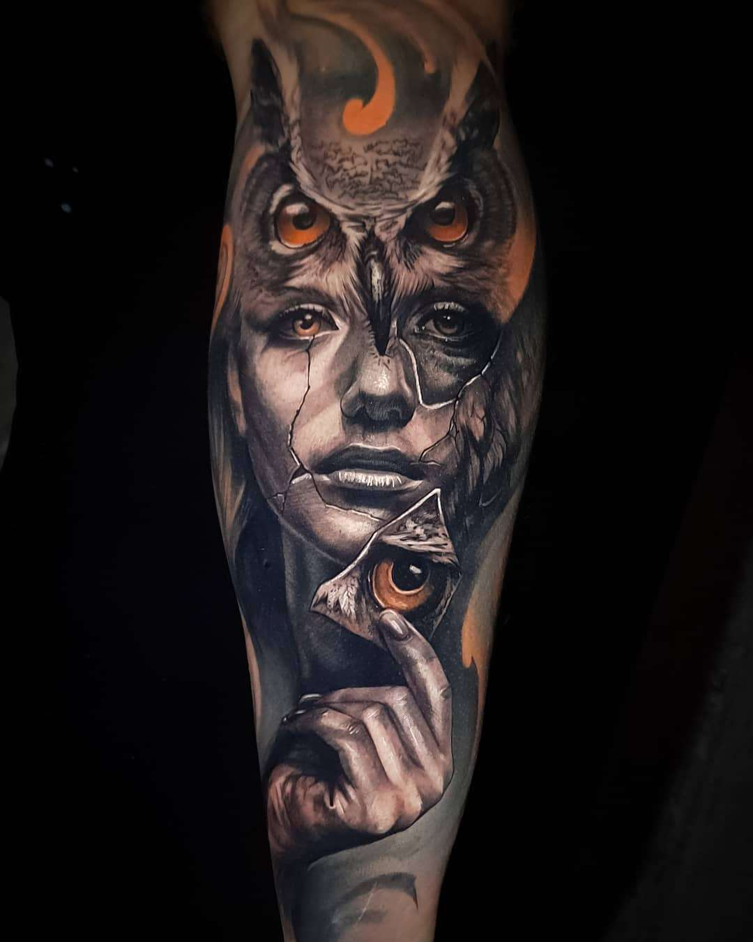 Tattoo artist Jayden Pengilly, color and black&grey authors portrait realism tattoo, surrealism | Australia