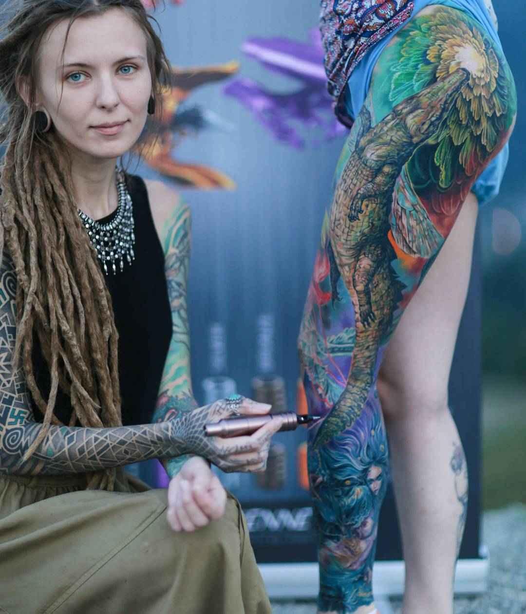Tattoo artist Nika Samarina   Russia