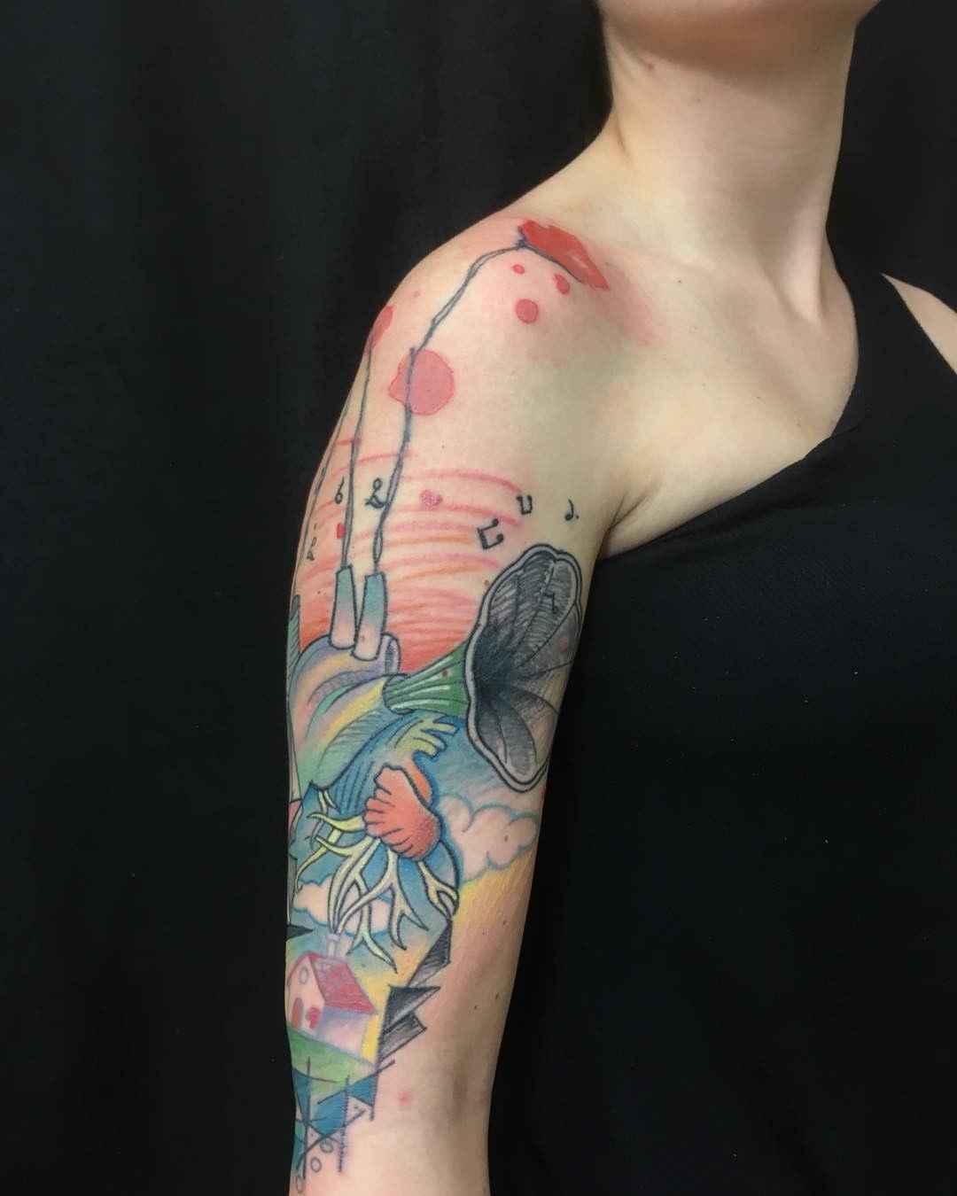 Sketch tattoos by Morof | Inkppl Tattoo Magazine - International - Tattoo Messe München