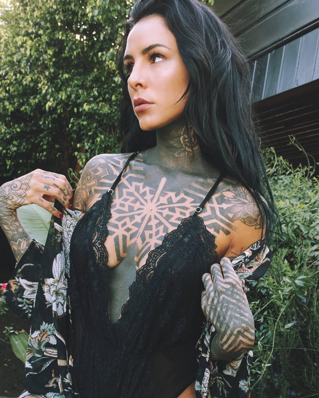 Tattoo model María Candelaria Tinelli   Buenos Aires ...