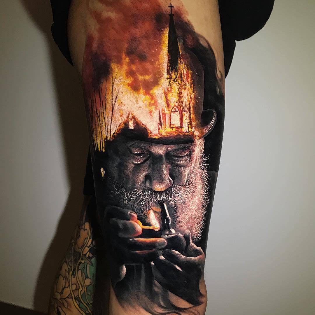 fa0ef4ded95b0 Chris Mata'afa's incredible realistic tattoos