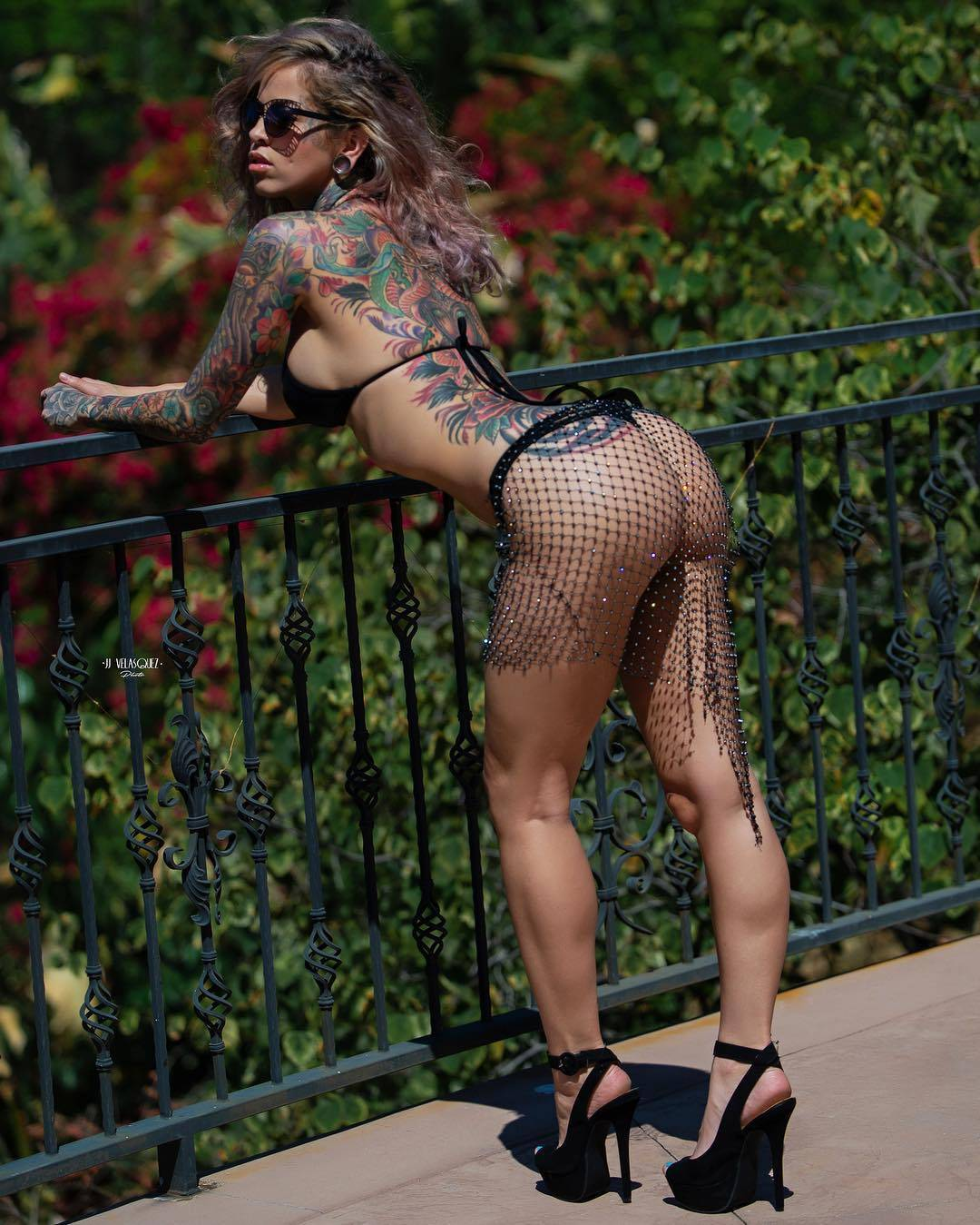 Tattoo model Madelyn Lance, alternative photo model, girl with tattoo | USA