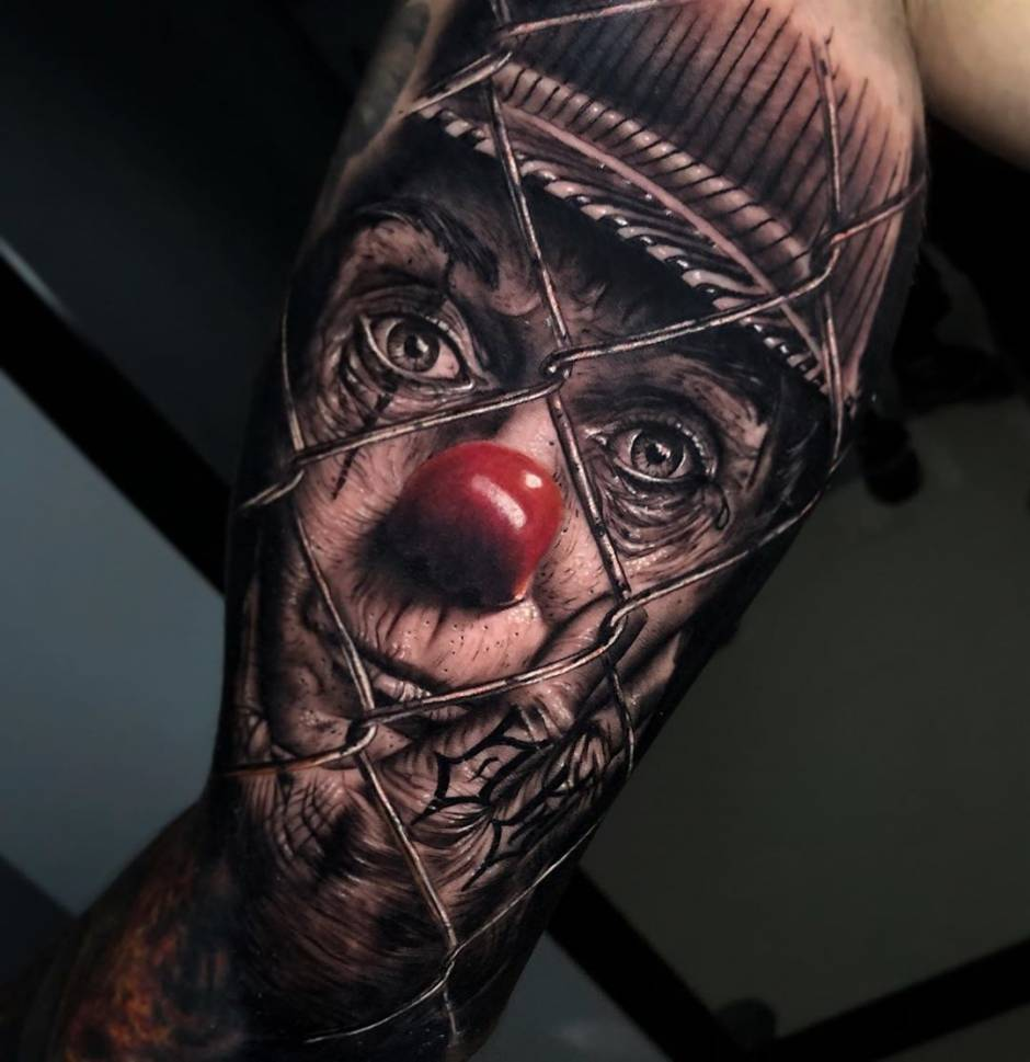 Everyone can become a clown in tattoos Alberto Escobar
