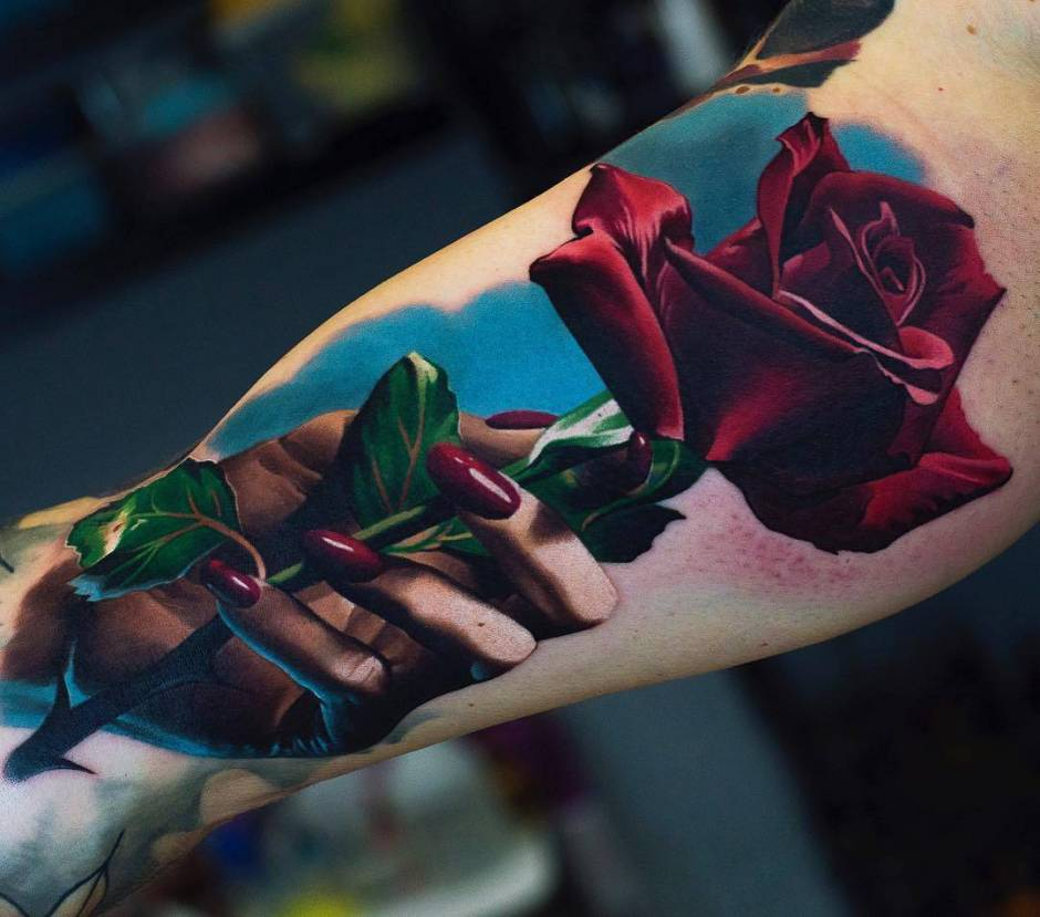 Tattoo artist Sergey Butenko, authors color and black and grey realistic tattoo | Wroclaw, Poland