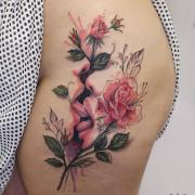Elegant tattoos by Deborah Genchi