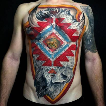 Dan Pemble's neo-traditional tattoo