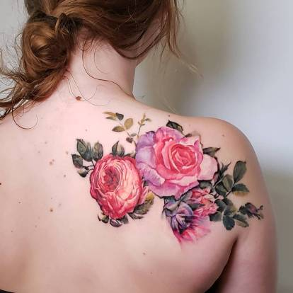 Tattoo for girls by Pete Zebley