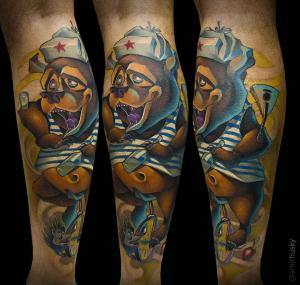 Amir Husky - Russian professional of the New school tattoo direction