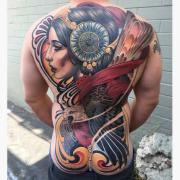 Neotraditional tattoo works by Justin Hartman