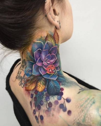 Lianne Moule's sensual watercolor tattoo