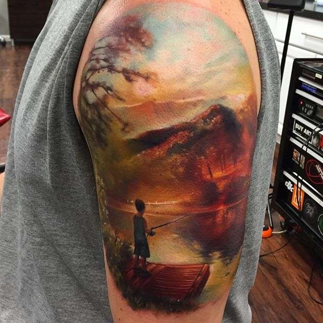 Tattoo artist Kyle Cotterman color realism tattoo