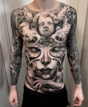 Realistic tattoo by Ivano Natale