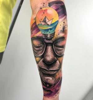 Watercolor tattoos by Pablo Ortiz