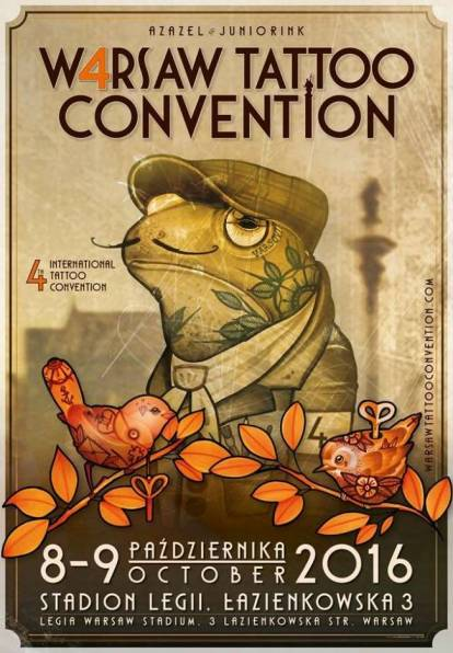 8 - 9th October. 4-th Warsaw Tattoo Convention 2016