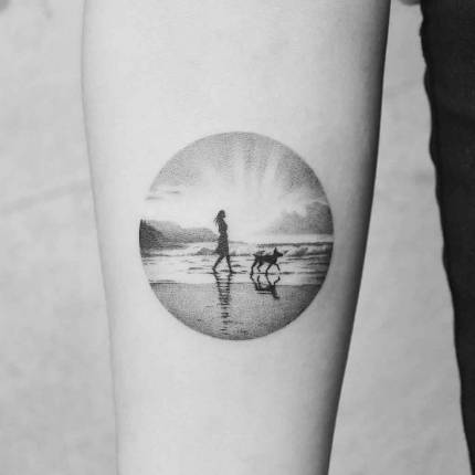 Traveler's portals in tattoos Amanda Piejak