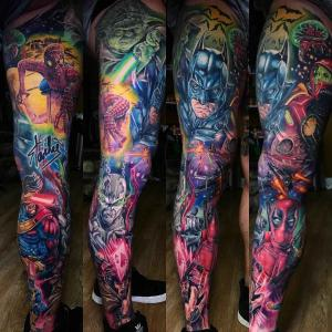 Scale and bright - the new school tattoo by Derek Turcotte