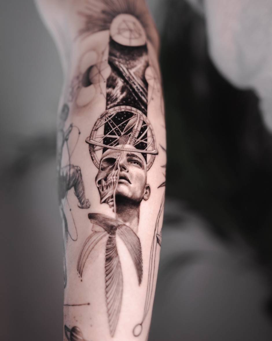 Micro Realism Tattoo by Maxime Etienne