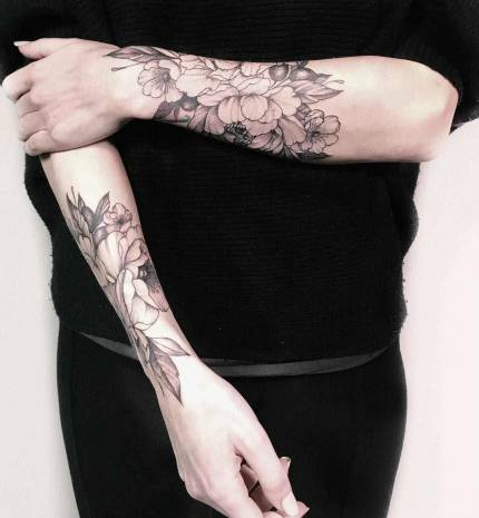 Light tattoos by Yarina Tereshchenko