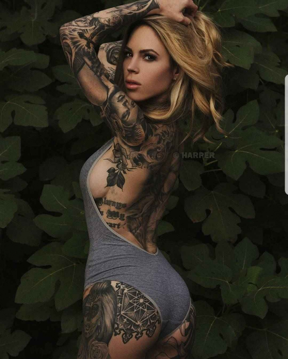 Tattoo model Lauren Hebert , female alternative photo model | USA