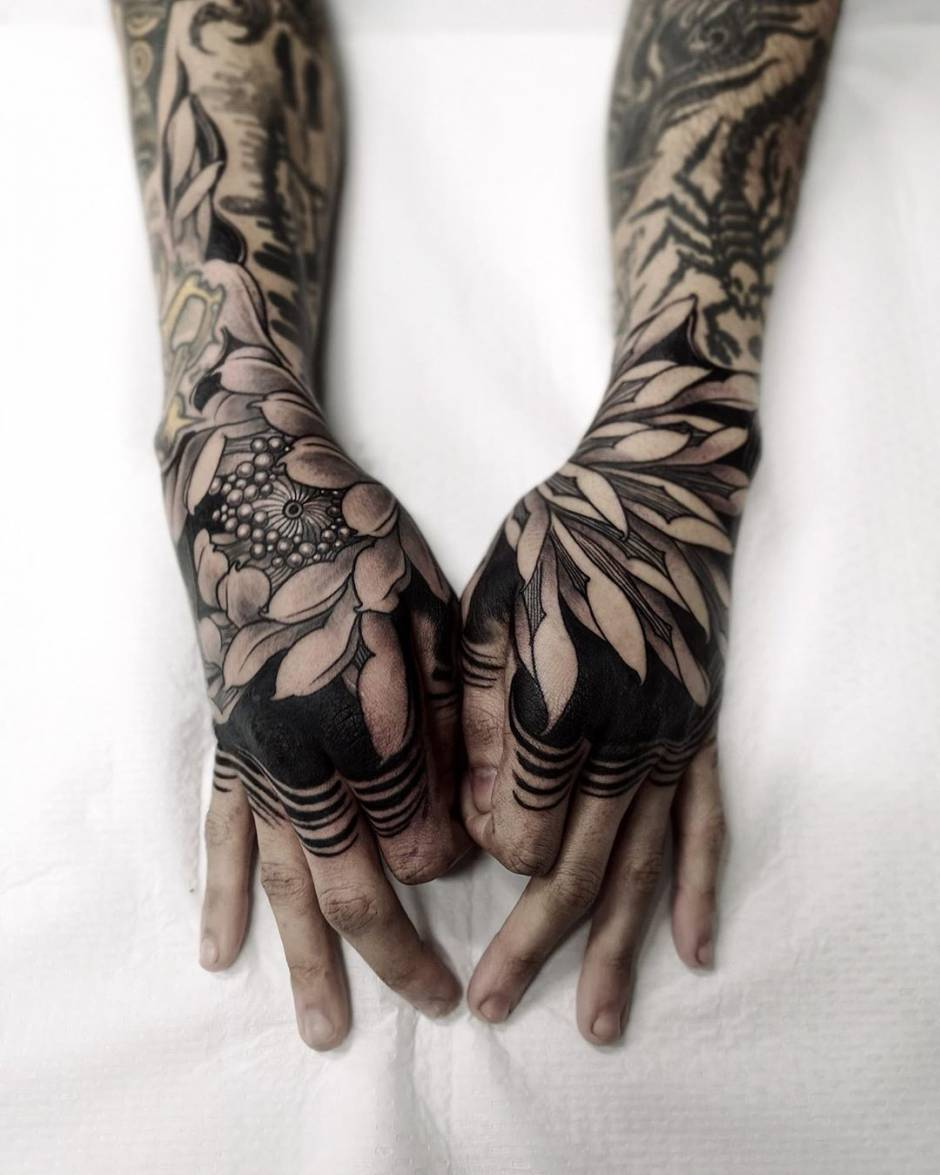 Black and Grey Japanese tattoo by FIBS