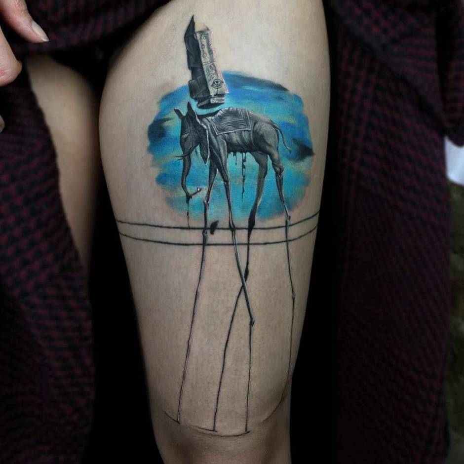 Tattoo artist Serkan Demirboga authors color and black tattoos, watercolor, sketch, minimalism | Turkey