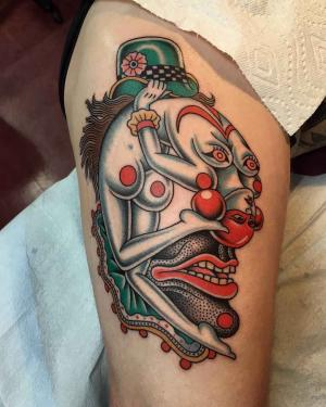 Gregory Whitehead - unusual traditional tattoo