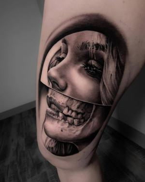 Creative black&grey realism