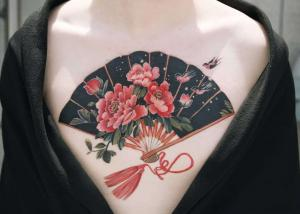 Delicate floral tattoos
