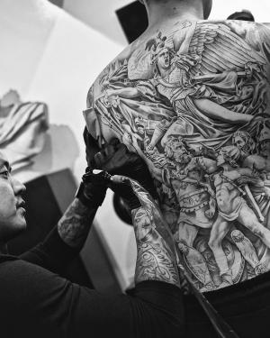 The Renaissance in the Jun Cha's tattoo works