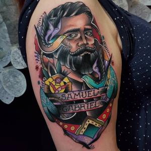 Eddie Czaicki's traditional tattoo