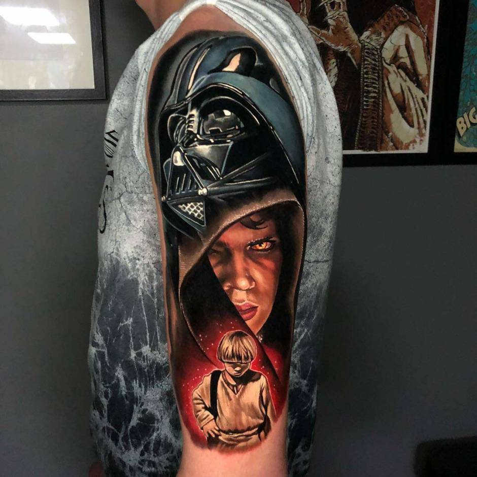 Tattoo artist Alex Rattray, authors style color portrait realism | United Kingdom