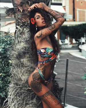 Italian tattoo model Giada Longo