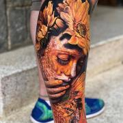 Surrealistic tattoos by Roberto Carlos Sanchez Mesa