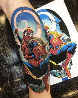Brent Goudie's cartoon tattoos