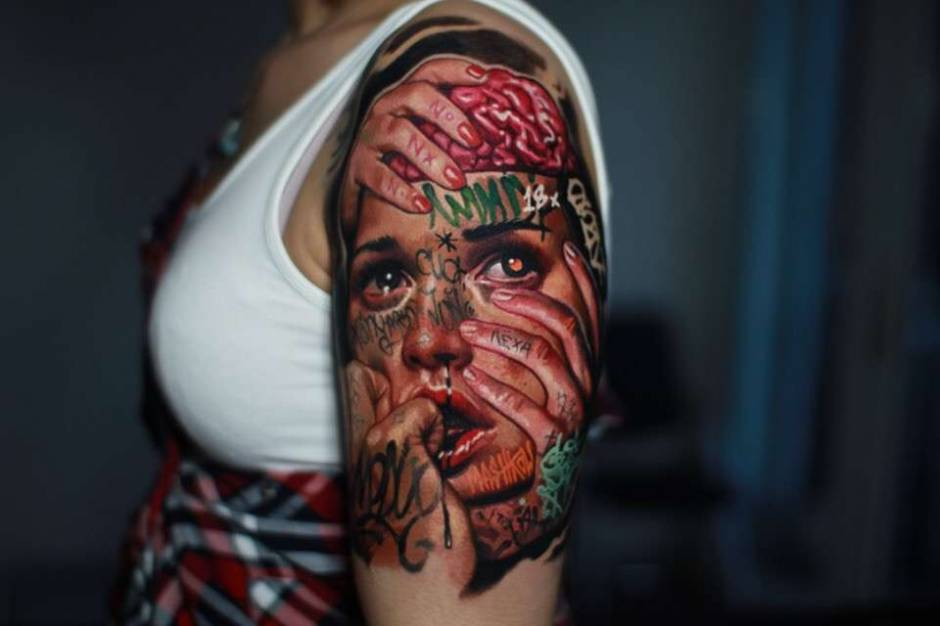 Tattoo artist Aleksey Mashkov, authors style color realistic tattoo | Russia, Moscow