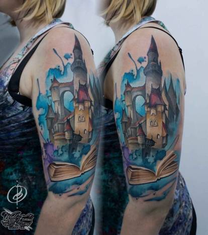 Bright tattoos by Daria Pirojenko