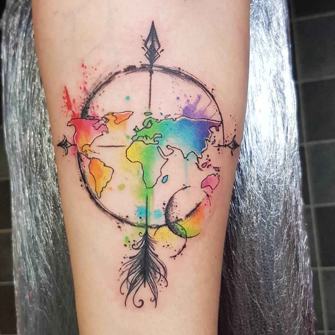 Watercolor Color And Sketch Tattoo: Sketch Watercolor Tattoo By Josie Sexton