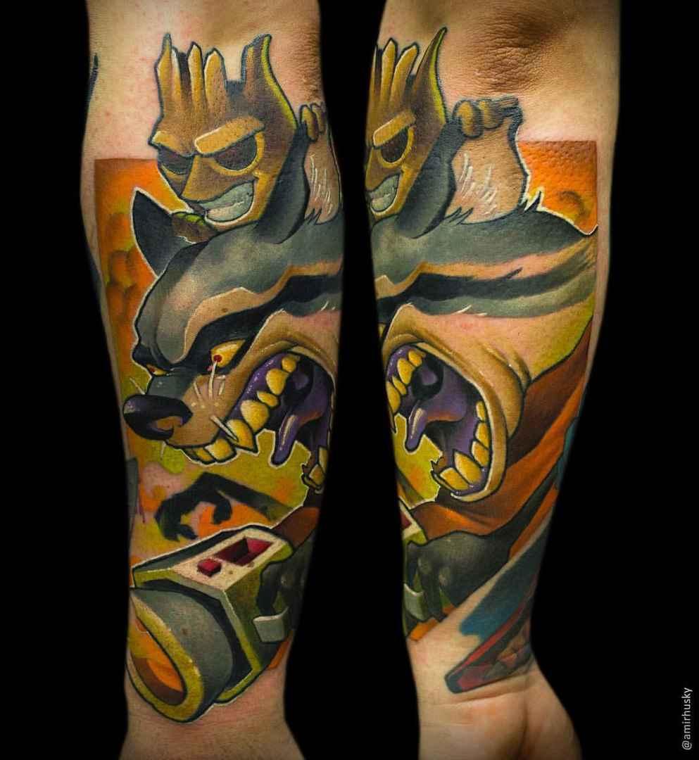 Tattoo Ideas Magazine: New School Tattoo By Amir Husky