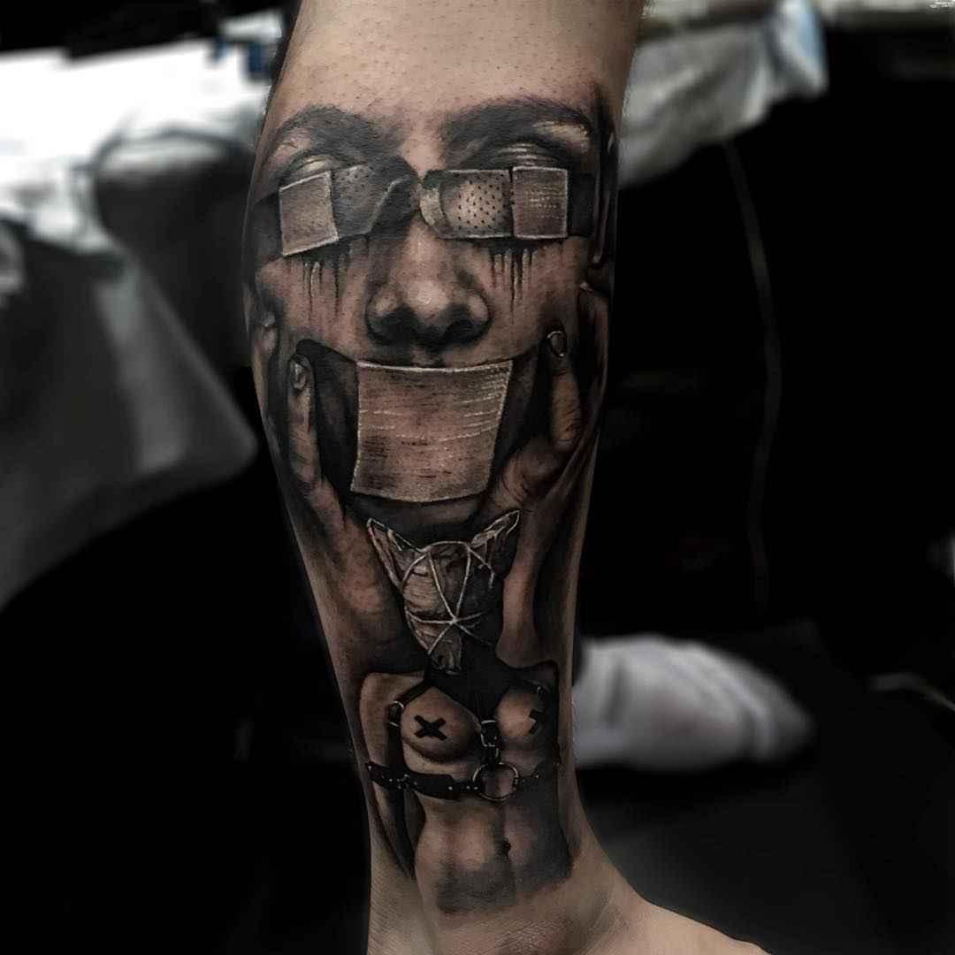 Atmospheric works of sam barber inkppl tattoo magazine for Barber neck tattoos