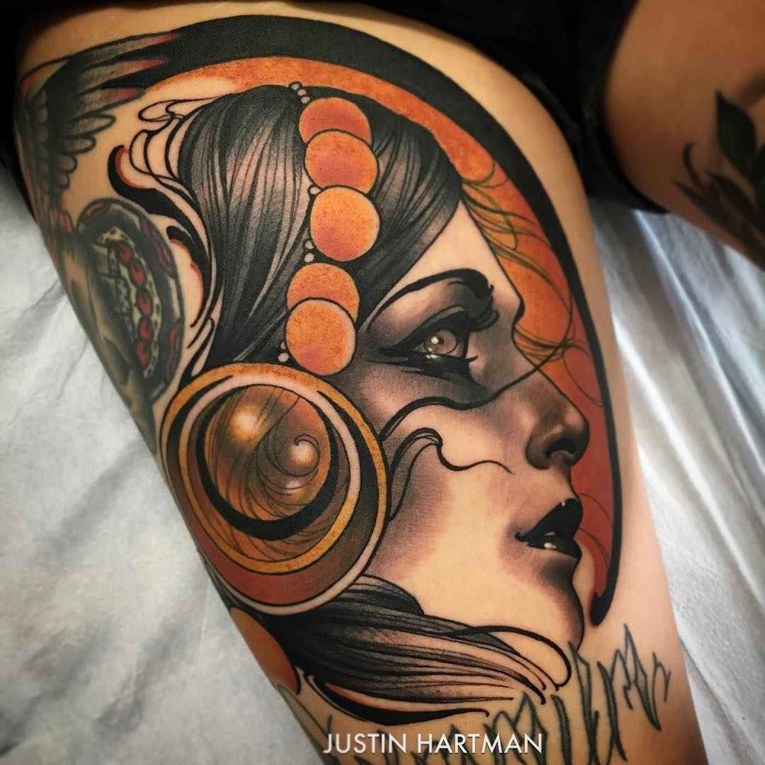 Neotraditional tattoo works by justin hartman inkppl for Best traditional tattoo artists