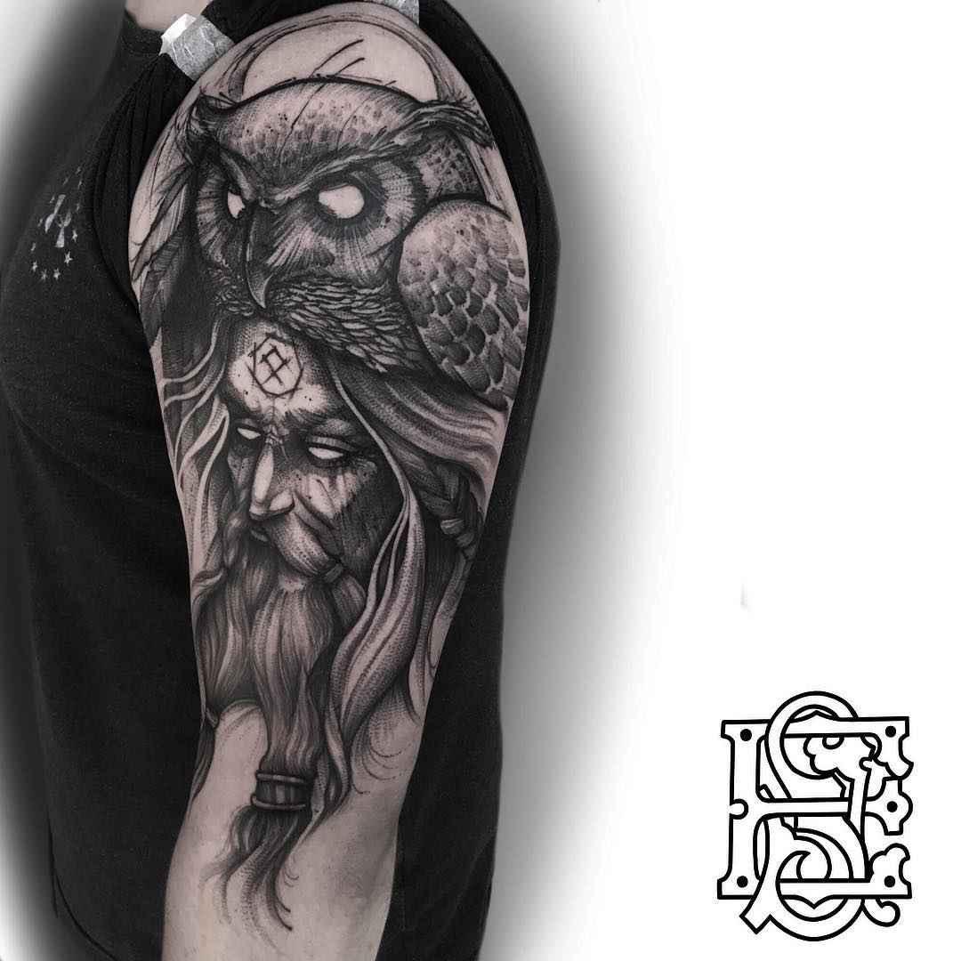 blackwork tattoo by eddie stacey inkppl tattoo magazine