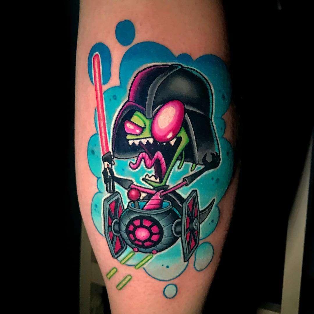 Jon Leighton\'s new school tattoos