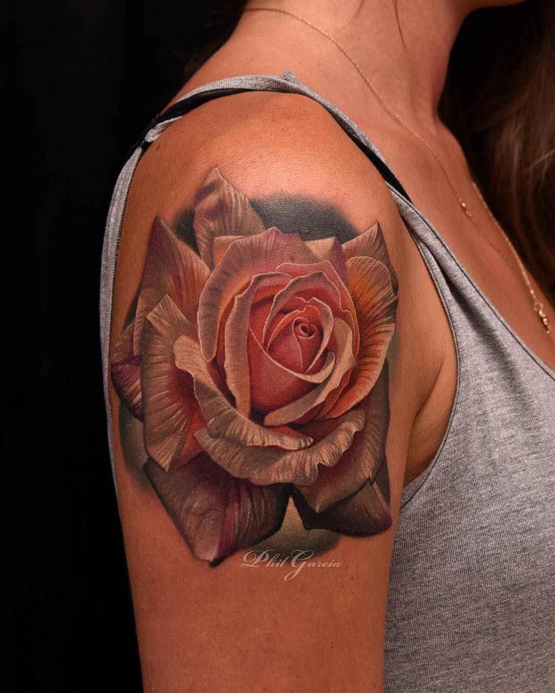 4960a740d realism rose tattoo artist Phil garcia   тату мастер Фил Гарсия реализм  татуировки розы