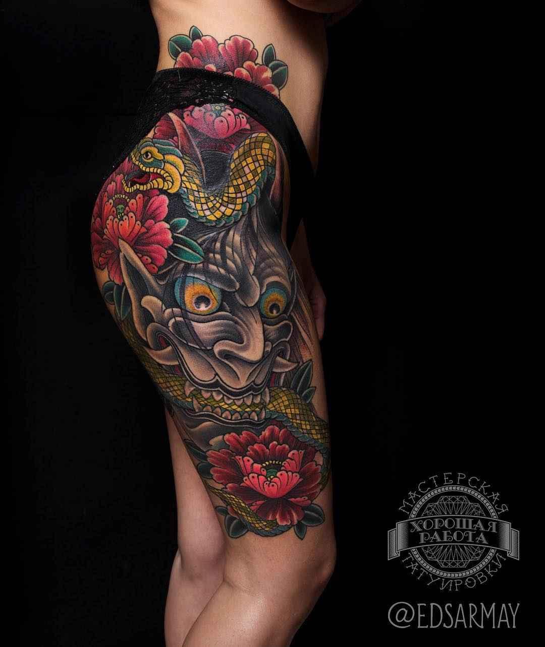 Tattoo Ideas Magazine: Japanese Tattoos By Eduard Sarmaev
